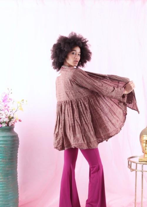 Bohemian Couture Jacke Gebetstuch braun
