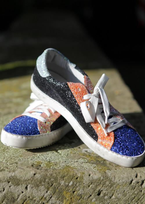 Sneaker Glitzer multicolor