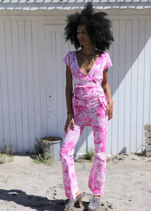 Boho Batik Hose Pink