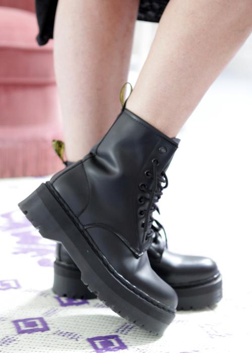 Plateau Boots schwarz