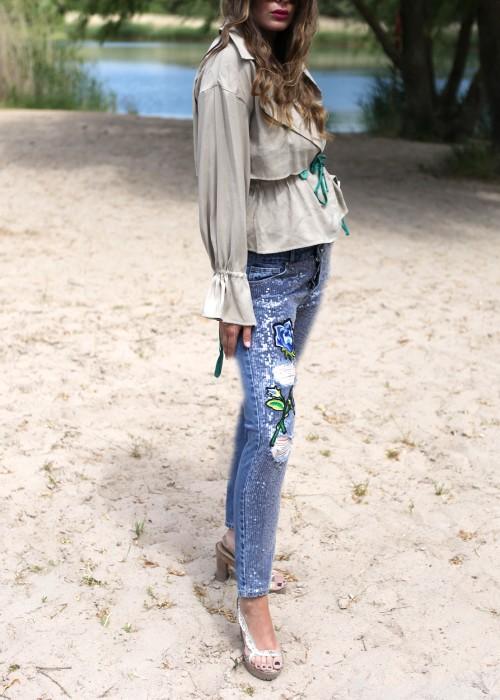 Boho Jeans Sequins