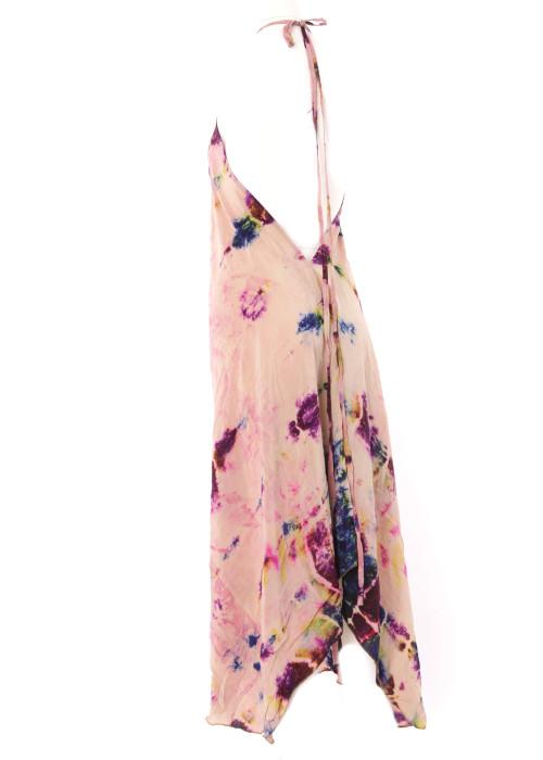 Boho Neckholderkleid Embroidery batik No1