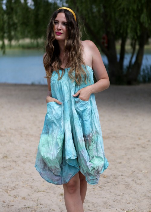 Boho Multi Rock und Dress Batik gruen