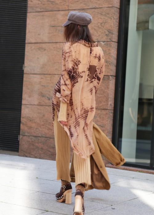Bohemian Long Bluse Batik Cezanne