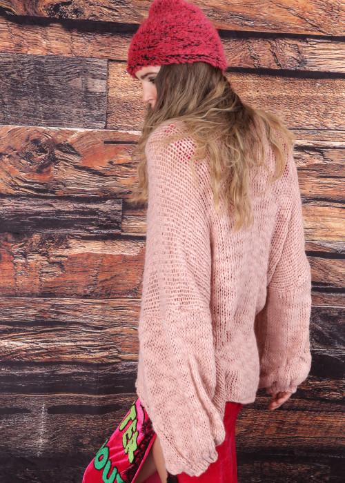 Pullover V-Neck rosa