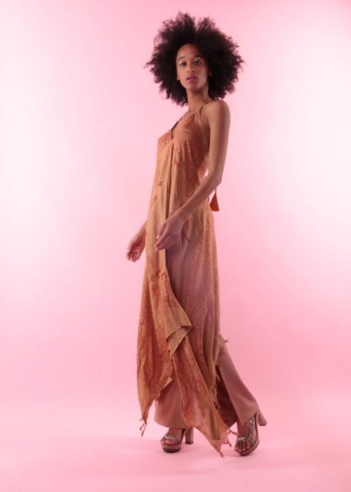 Boho Neckholderkleid Gebetstuch Kleid nude