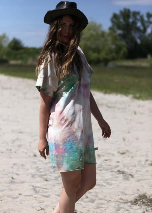 Boho Tunika Kleid Batik Multi Tuerk