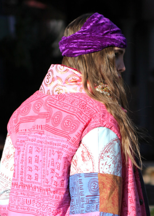 Boho Stirnband Pure Velvet lila