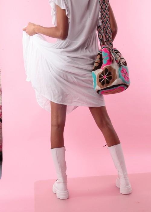 Boho Bag Mexicana Beutel Neon rosa
