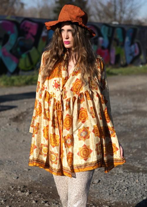 Bohemian Couture Jacke retro orange