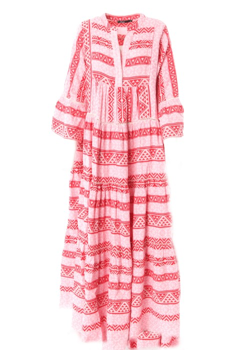 Boho Maxikleid Kefiyeh pink-rosa