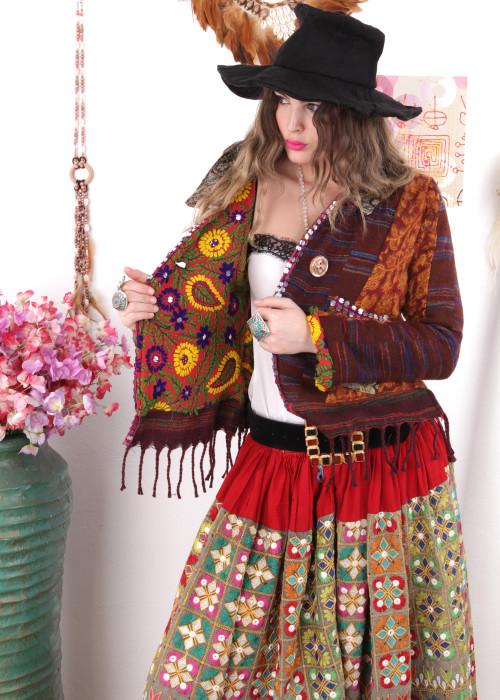 Boho Blazer Patchwork Gypsy