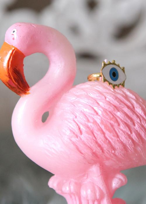 Boho Ring Eye weiss