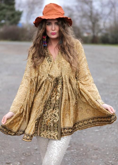 Bohemian Couture Jacke retro nugat