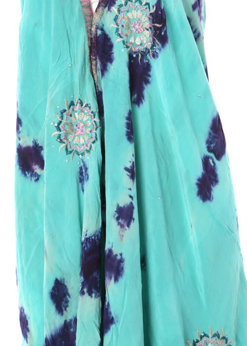 Boho Neckholderkleid Embroidery batik No3