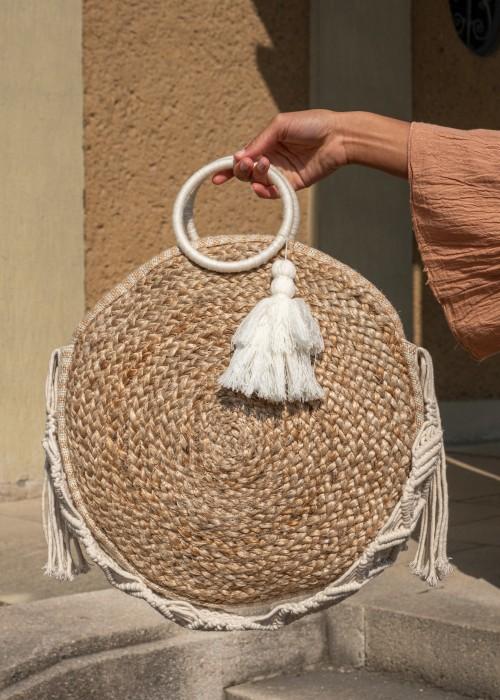 Boho Shopper Tasche Round Just You
