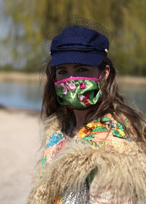 Boho Face Cover Blind Date gruen