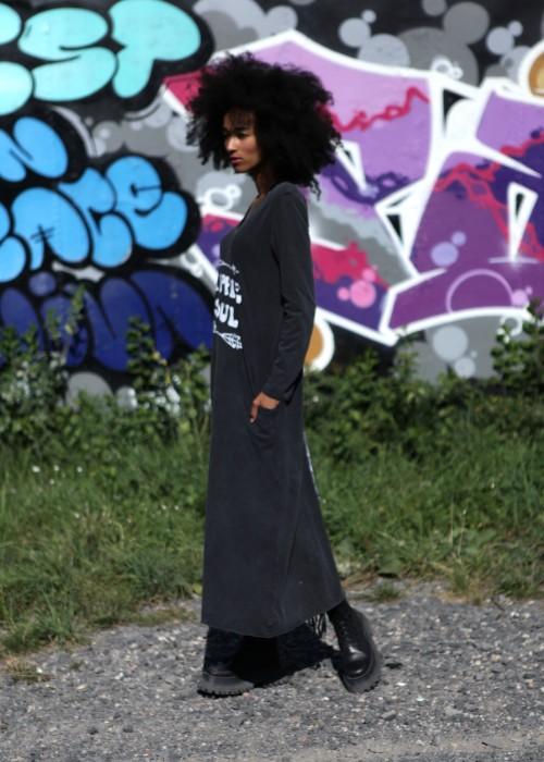 Boho Shirt Maxikleid Hippie Soul