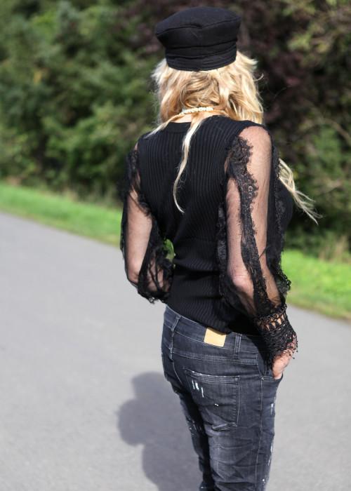 Longsleeve Lace schwarz