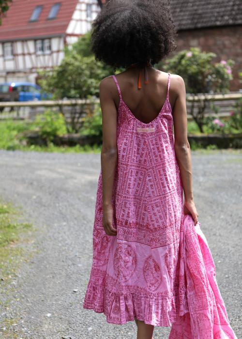 Boho Kleid Gebetstuch pink