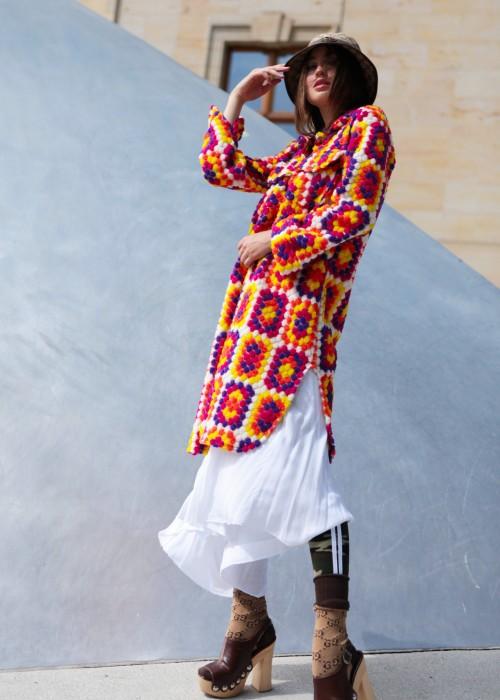 Boho Slip Dress Weiss