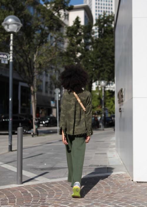 Boho Camouflage Jeans Hemd oliv