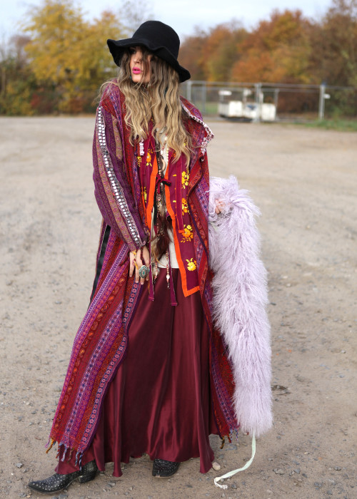 Boho Mantel Gypsy violett