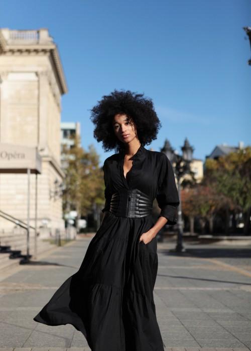 Boho Babydoll Kleid schwarz