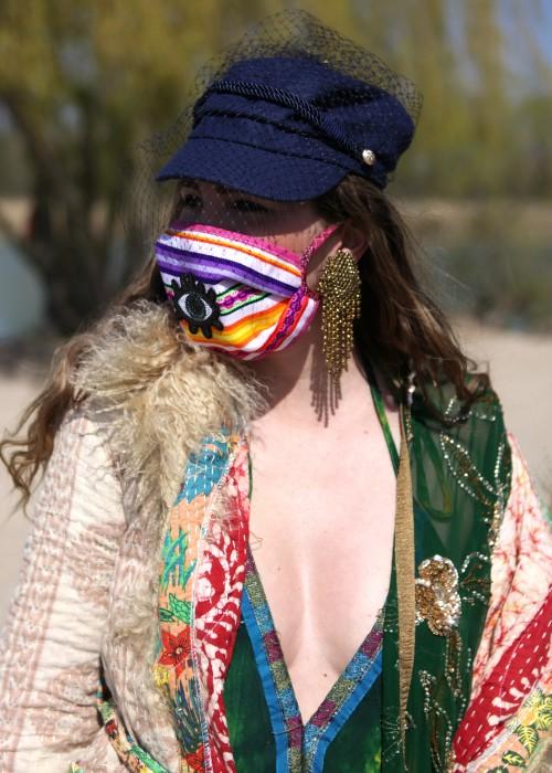 Boho Face Cover Mexican Eye