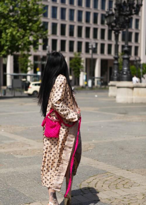 Boho Bikini + Kimono Set Embroidery pink Gr.M