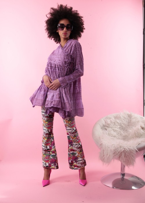 Bohemian Couture Jacke Gebetstuch purpel