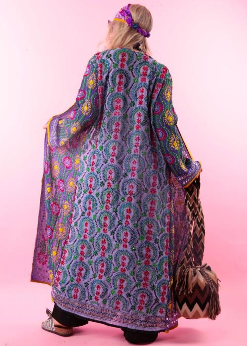 Boho Kimono Suki blau-flieder