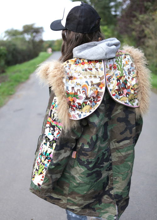 Boho Parka Handbrushed Tibeth and Village