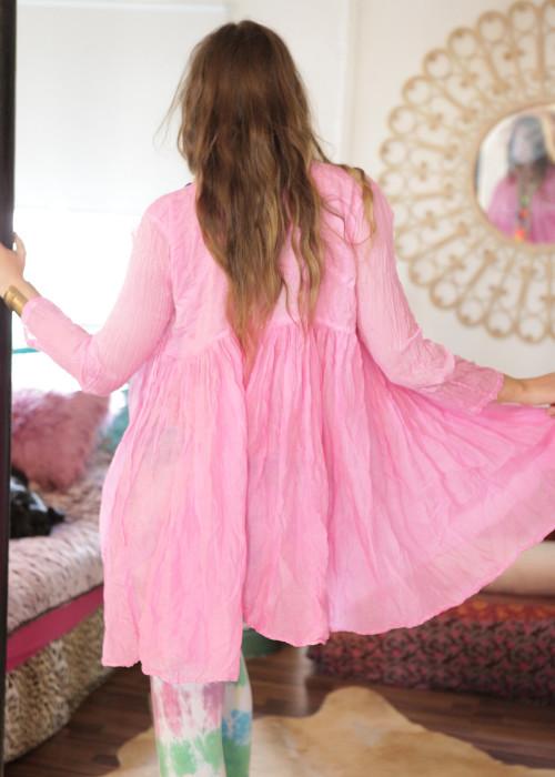 Bohemian Couture Jacke Batik rosa