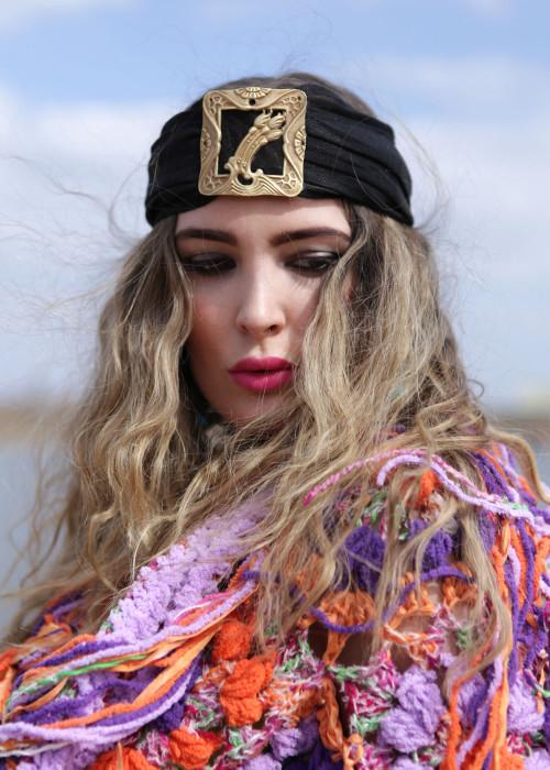 Gypsy Turban schwarz