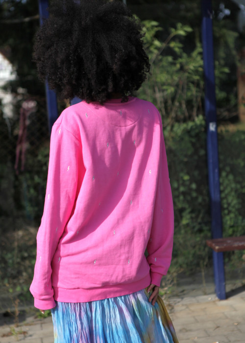 Boho Sweatshirt Buddha Pink