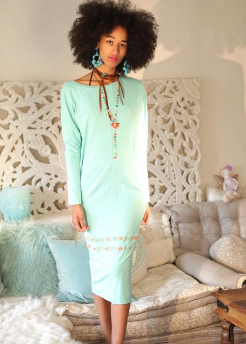 Boho Kleid Multiway mint