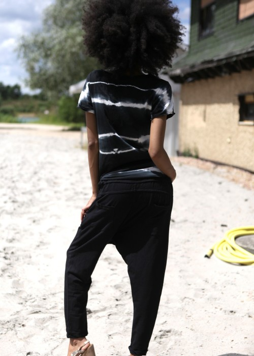 Sarouel Sweathose schwarz