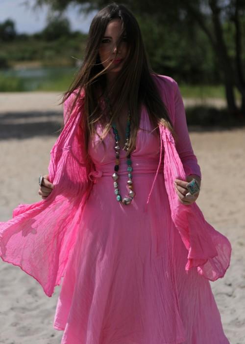 Bohemian Couture Jacke Candy rosa