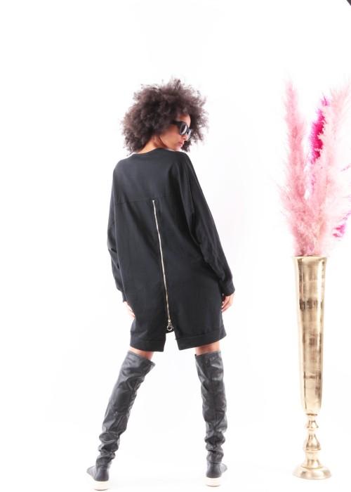 Boho Long Oversize XXL Sweater schwarz Skull