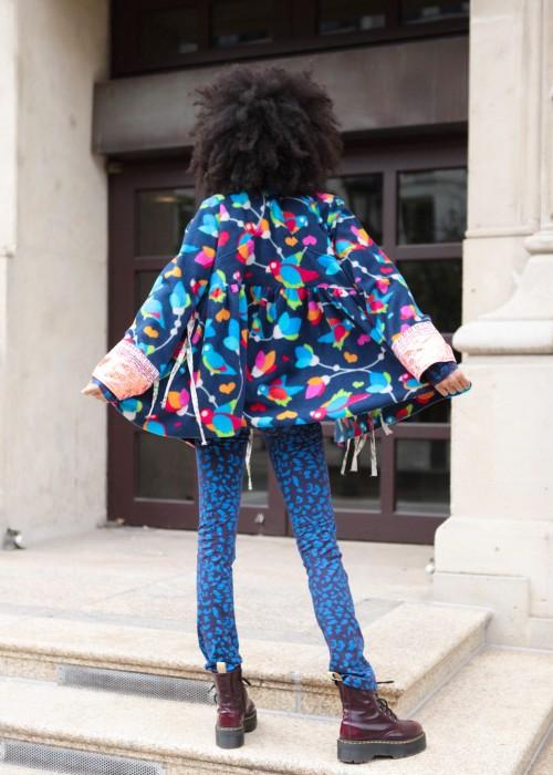Bohemian Couture Jacke Birds blue