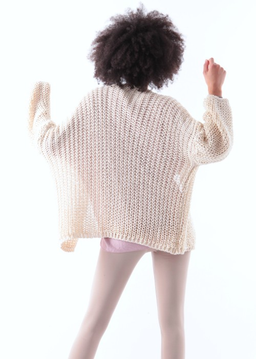Strickjacke Cardigan beige