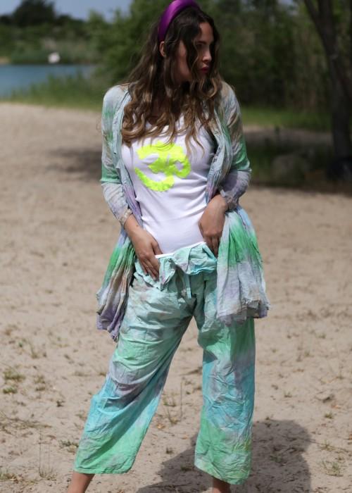 Bohemian Wrap Pants Batik pastell