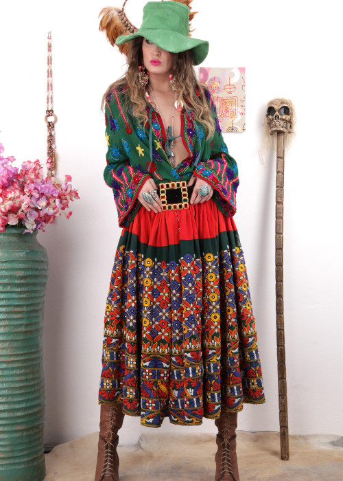 Boho Maxirock Embroidery No7