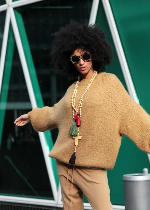 Boho Flash Oversize Pullover nugat