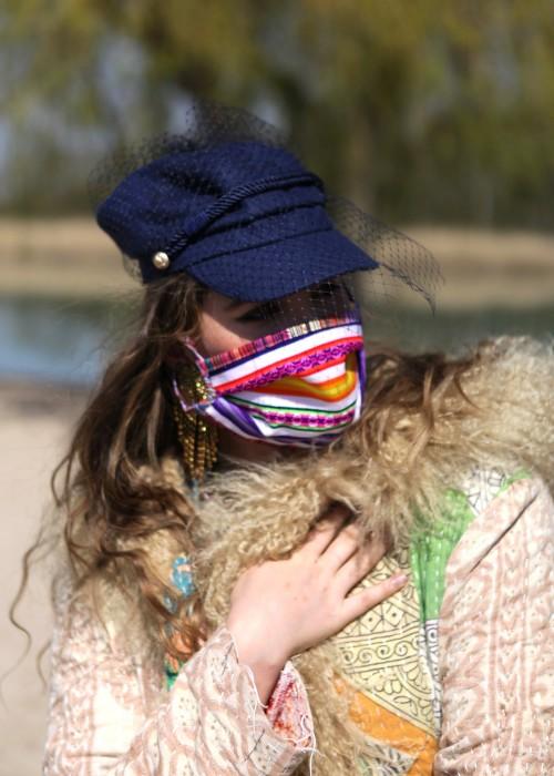 Boho Face Cover Mexican multicolor