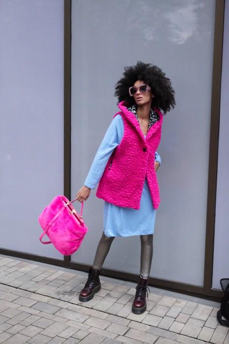 Boho Bag FAKE FUR Limi pink