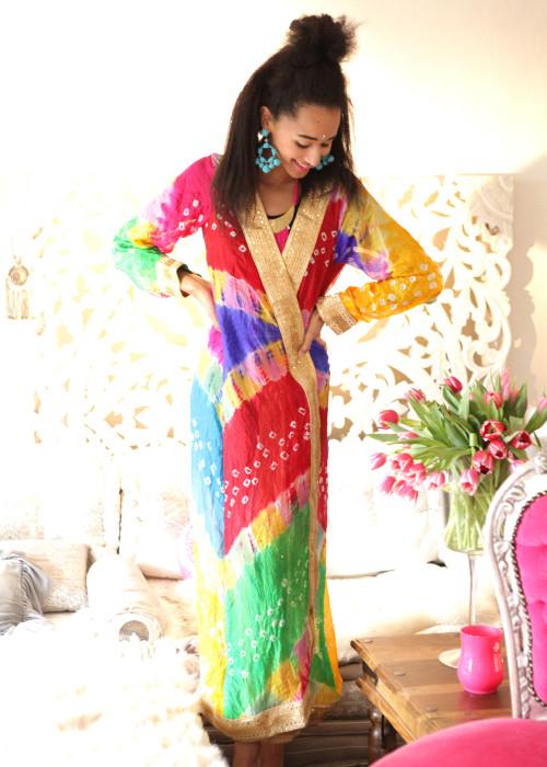 Boho Kimono Karma Batik Nr.9 multicolor