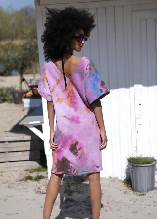 Boho Tunika Kleid Batik Multi