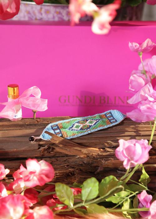 Boho Armband Artisan hellblau